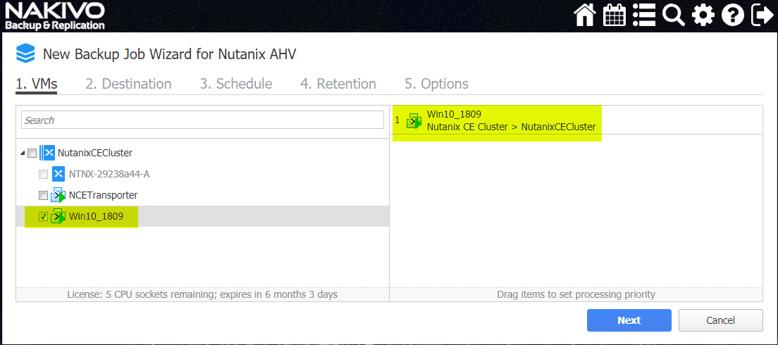 Select-the-VMs-in-the-Nutanix-AHV-environment-you-want-to-protect-with-the-NAKIVO-backup-job Backup and Restore Nutanix VMs with NAKIVO