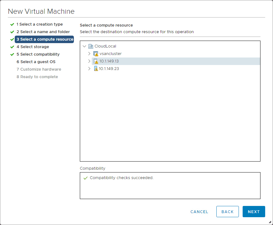 Select-the-compute-resource-in-your-vSphere-environment-for-Nutanix-CE-nested-installation Install Nested Nutanix CE in VMware vSphere ESXi 6.7 Update 1