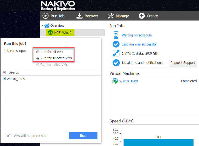 Select-which-VM-backup-jobs-to-run Backup and Restore Nutanix VMs with NAKIVO