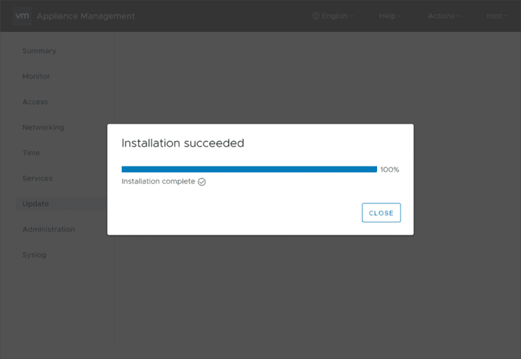 VCSA-vSphere-6.7-Update-2-installation-completes-successfully Upgrade to VMware vSphere vCenter VCSA 6.7 Update 2 with VAMI