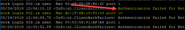 Extreme-switch-802.1X-error-in-the-switch-log Enable VMware Virtual Machine 802.1X Authentication