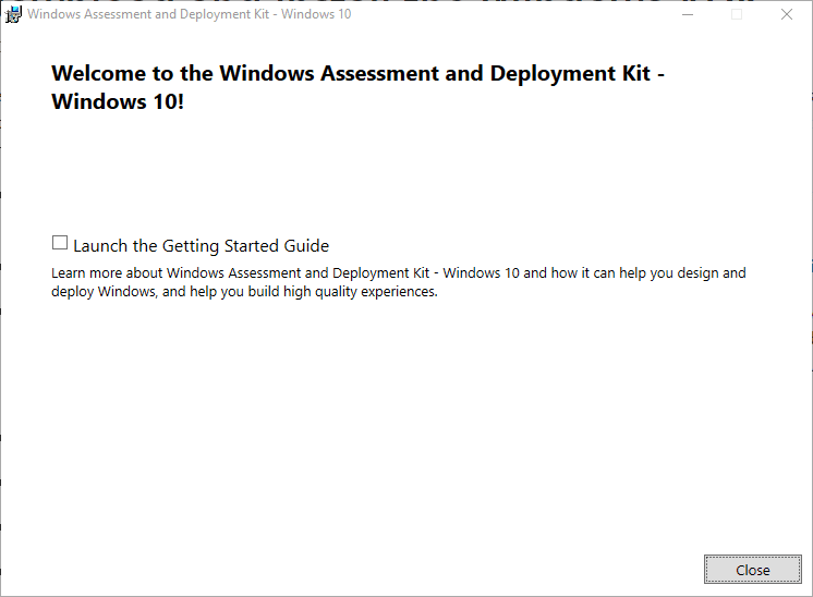 Installation-of-Windows-Assessment-and-Deployment-Kit-completed-successfully Create Unattend Answer File for Windows Server 2019 Automated Packer Installation