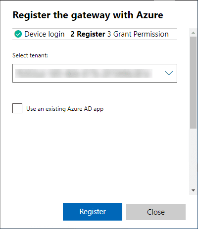 Register-the-gateway-with-Microsoft-Azure Install and Configure Windows Server 2019 Azure Network Adapter