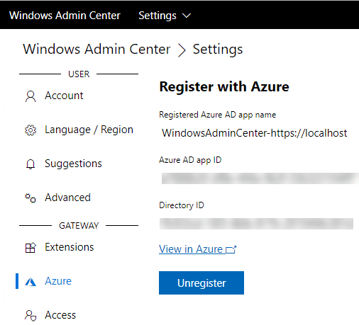 Windows-Admin-Center-nows-shows-registered-under-the-Azure-connection Install and Configure Windows Server 2019 Azure Network Adapter