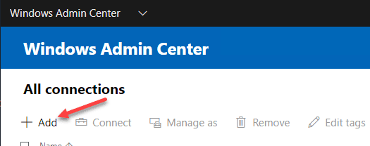 Adding-a-new-connection-in-Windows-Admin-Center Manage Storage Spaces Direct with Windows Admin Center