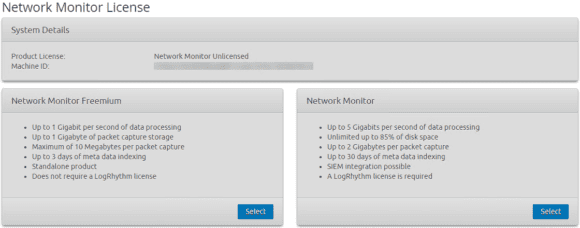 Applying-the-LogRhythm-NetMon-Freemium-license Install LogRhythm NetMon in VMware vSphere VM