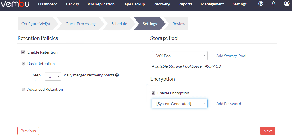 Configure-retention-policy-and-backup-storage-options-for-Hyper-V-cluster-VM Free Backup Software for Hyper-V Clusters