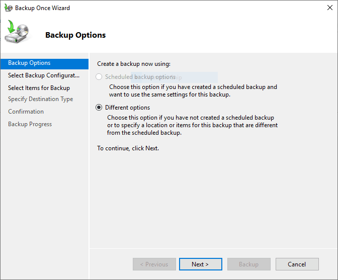 Creating-a-new-Backup-Once-Hyper-V-backup-job-with-different-options-selected Free Backup Software for Hyper-V Clusters