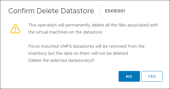 Datastore-delete-confirmation Increase VMware vSAN Space and Performance Add Disks to Disk Group