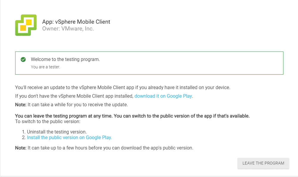 Downloading-the-vSphere-Mobile-Client-from-Google-Play-Store New vSphere Mobile Client Fling with Docker Container Notification Service