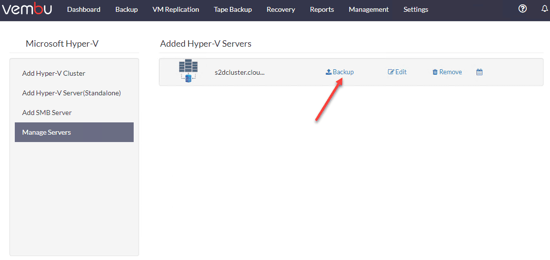 Hyper-V-cluster-is-successfully-added-and-ready-to-create-backups Free Backup Software for Hyper-V Clusters