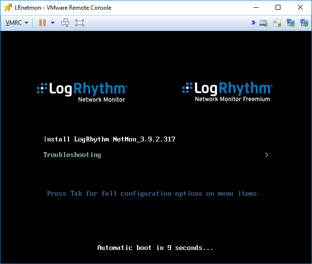 Installation-of-the-LogRhythm-NetMon-VM-appliance-begins