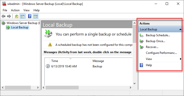 Lauching-either-the-backup-schedule-or-backup-once-wizard Free Backup Software for Hyper-V Clusters