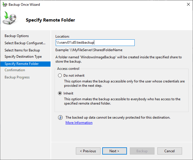 Specifying-the-remote-destination-folder-for-network-backup Free Backup Software for Hyper-V Clusters
