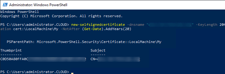 Using-PowerShell-to-create-a-free-self-signedcertificate Three Free SSL Certificates and Tools