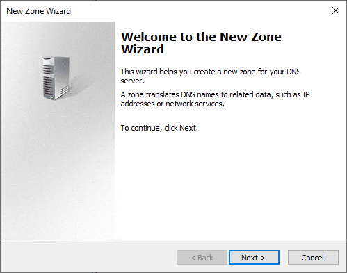 Beginning-the-create-a-new-zone-wizard Export and Import DNS Zone with PowerShell from One Server to Another