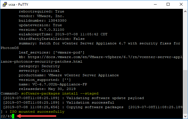 Beginning-the-patch-install-process-from-the-appliance-patch-ISO Manually Patch VMware vCenter Server VCSA with ISO
