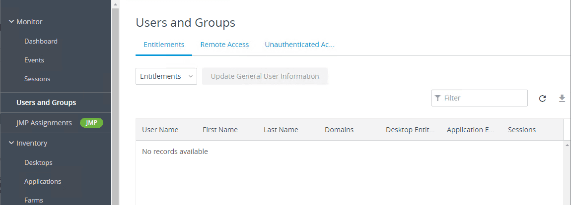 Checking-users-and-groups-in-Horizon-7.9-Console Installing VMware Horizon 7.9 Connection Server Step-by-Step