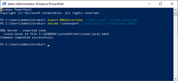 Comparing-Export-DNSServerZone-cmdlet-and-the-DNSCMD-equivalent Export and Import DNS Zone with PowerShell from One Server to Another