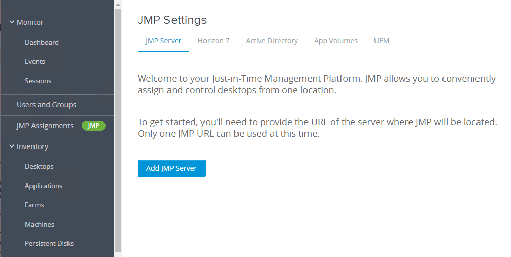 JMP-settings-configuration-in-Horizon-7.9-Console Installing VMware Horizon 7.9 Connection Server Step-by-Step