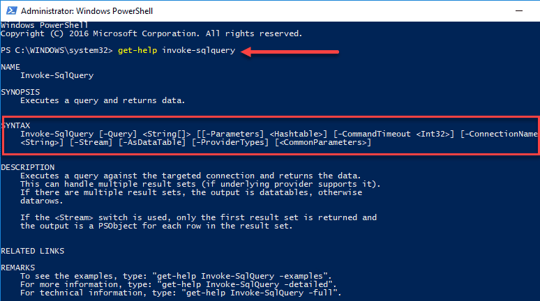 Taking-a-look-at-Get-Help-for-Invoke-SQLQuery-PowerShell-cmdlet How To Query a MySQL Database with PowerShell