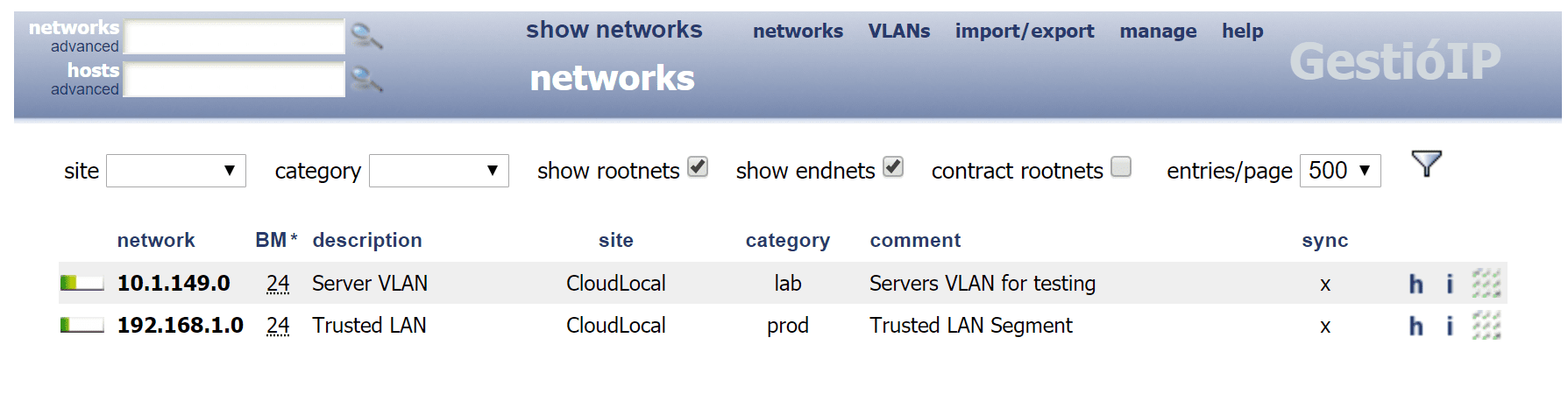 After-adding-a-couple-of-networks-to-Gestioip Keep Track of IP Addresses Automatically with GestioIP