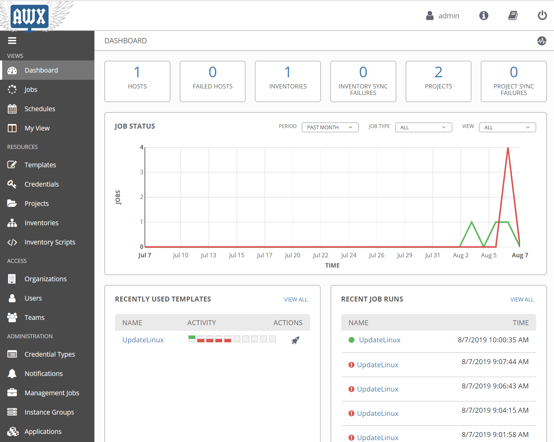 Ansible-AWX-automation-dashboard Use Ansible AWX to Automate Linux Updates and Patches