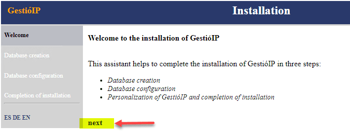 Beginning-the-web-installation-portion-of-GestioIP Keep Track of IP Addresses Automatically with GestioIP