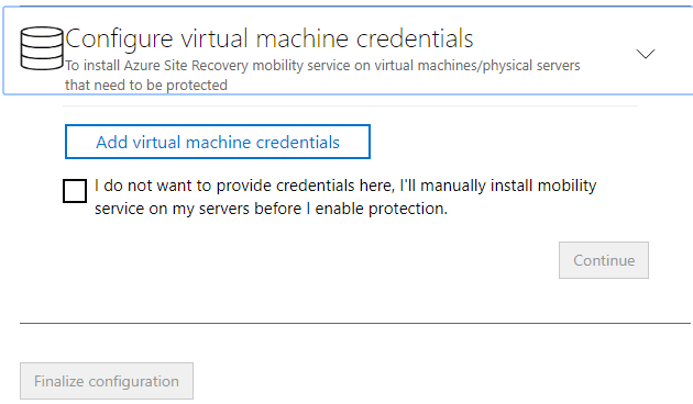 Configure-virtual-machine-credentials-to-install-Azure-Site-REcovery-mobility-service Configure Azure Site Recovery Configuration Server for VMware Replication