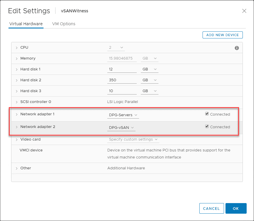 Connect-the-vSAN-Witness-host-which-is-a-nested-ESXi-host-into-the-right-portgroups Replacing VMware vSAN Two-Node Witness Host Checklist