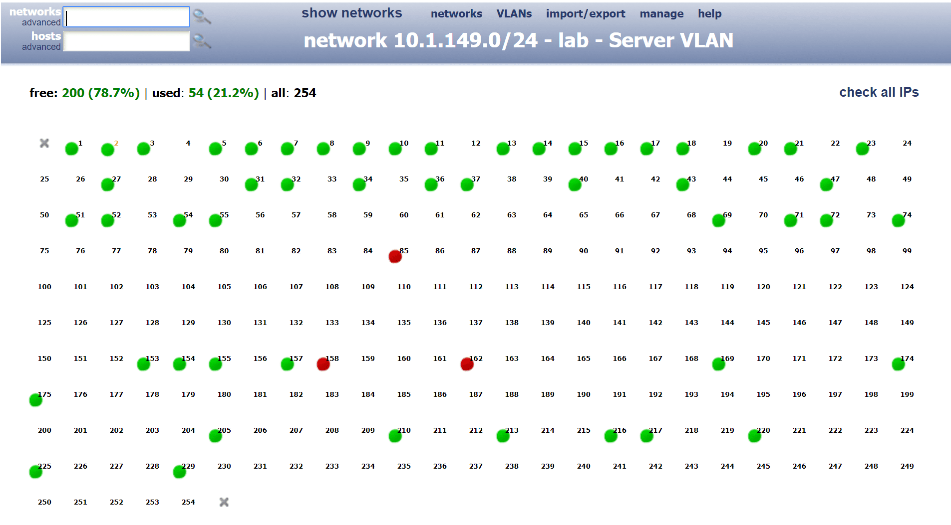 Network-IP-usage-displayed-in-an-easy-to-discern-format Keep Track of IP Addresses Automatically with GestioIP