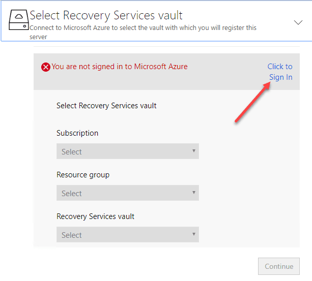 Prompted-to-sign-in-again-to-Microsoft-Azure Configure Azure Site Recovery Configuration Server for VMware Replication