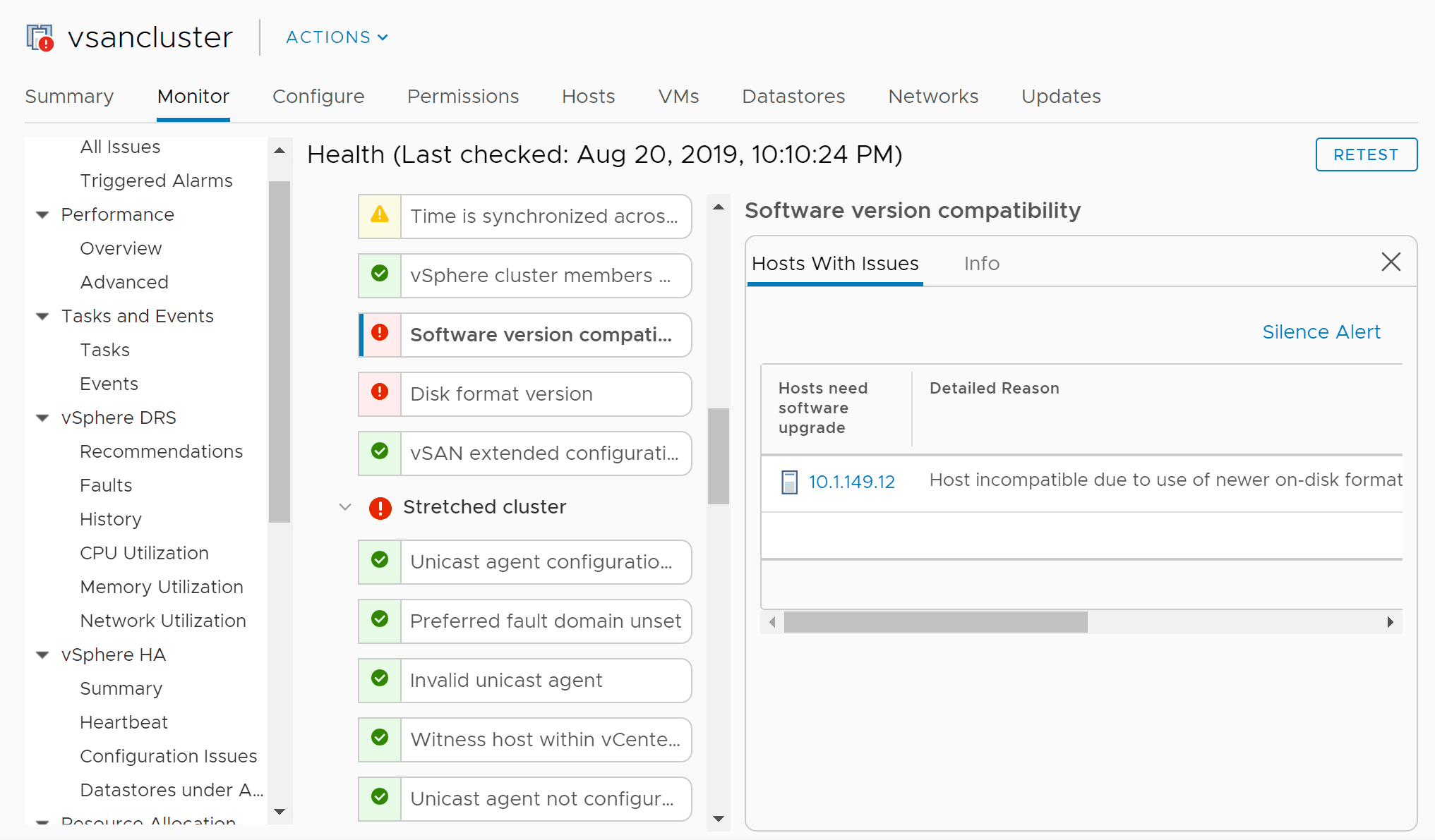 VMware-vSAN-witness-host-version-mismatch-with-other-hosts-in-vSAN-cluster Replacing VMware vSAN Two-Node Witness Host Checklist