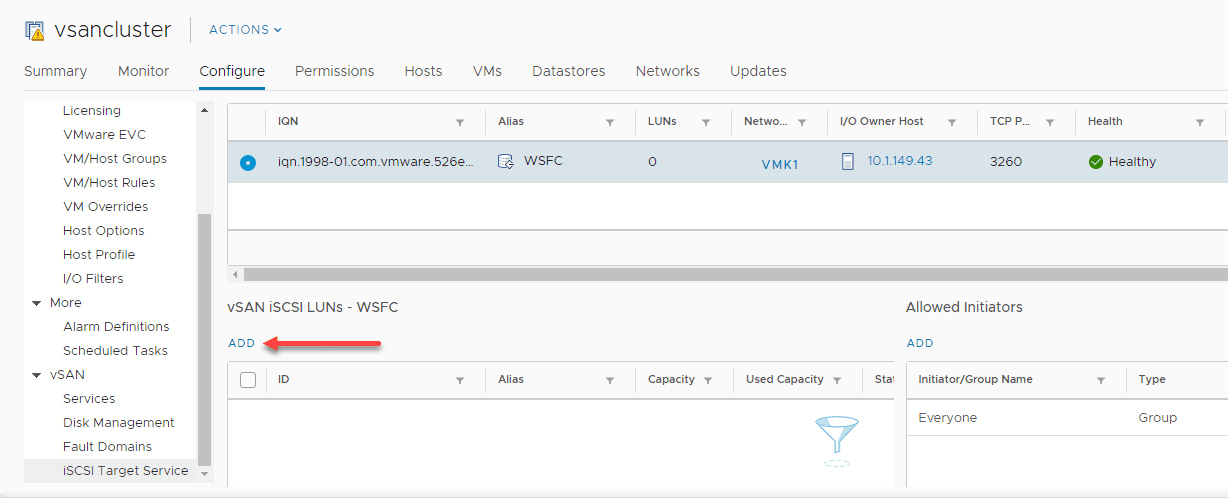 Add-a-new-vSAN-iSCSI-LUN Configure VMware vSAN iSCSI for Windows Server Failover Cluster WSFC