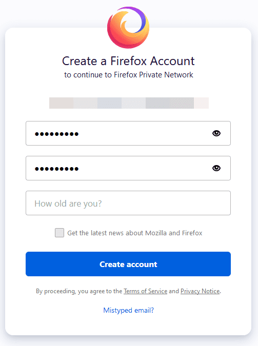 Create-a-Firefox-account-with-a-password-to-use-Firefox-Private-Network Protect Internet Privacy Install Firefox Private Network
