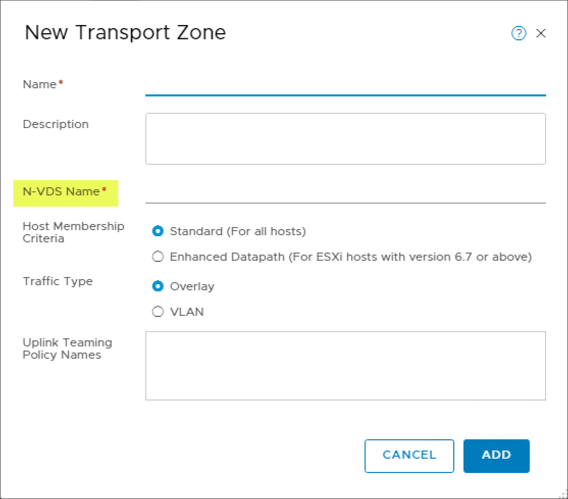 Creating-a-new-Transport-zone-with-a-new-N-VDS How to Manage the NSX-T N-VDS Virtual Switch