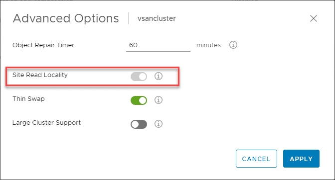 Default-site-read-locality-configuration-for-VMware-vSAN-1 Two-Node vSAN Performance Tip Disable Site Read Locality