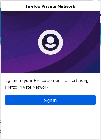 Sign-into-Firefox-to-use-the-Firefox-Private-Network Protect Internet Privacy Install Firefox Private Network