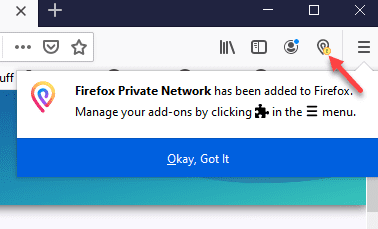 The-Firefox-Private-Network-extension-is-successfully-added-to-Firefox Protect Internet Privacy Install Firefox Private Network