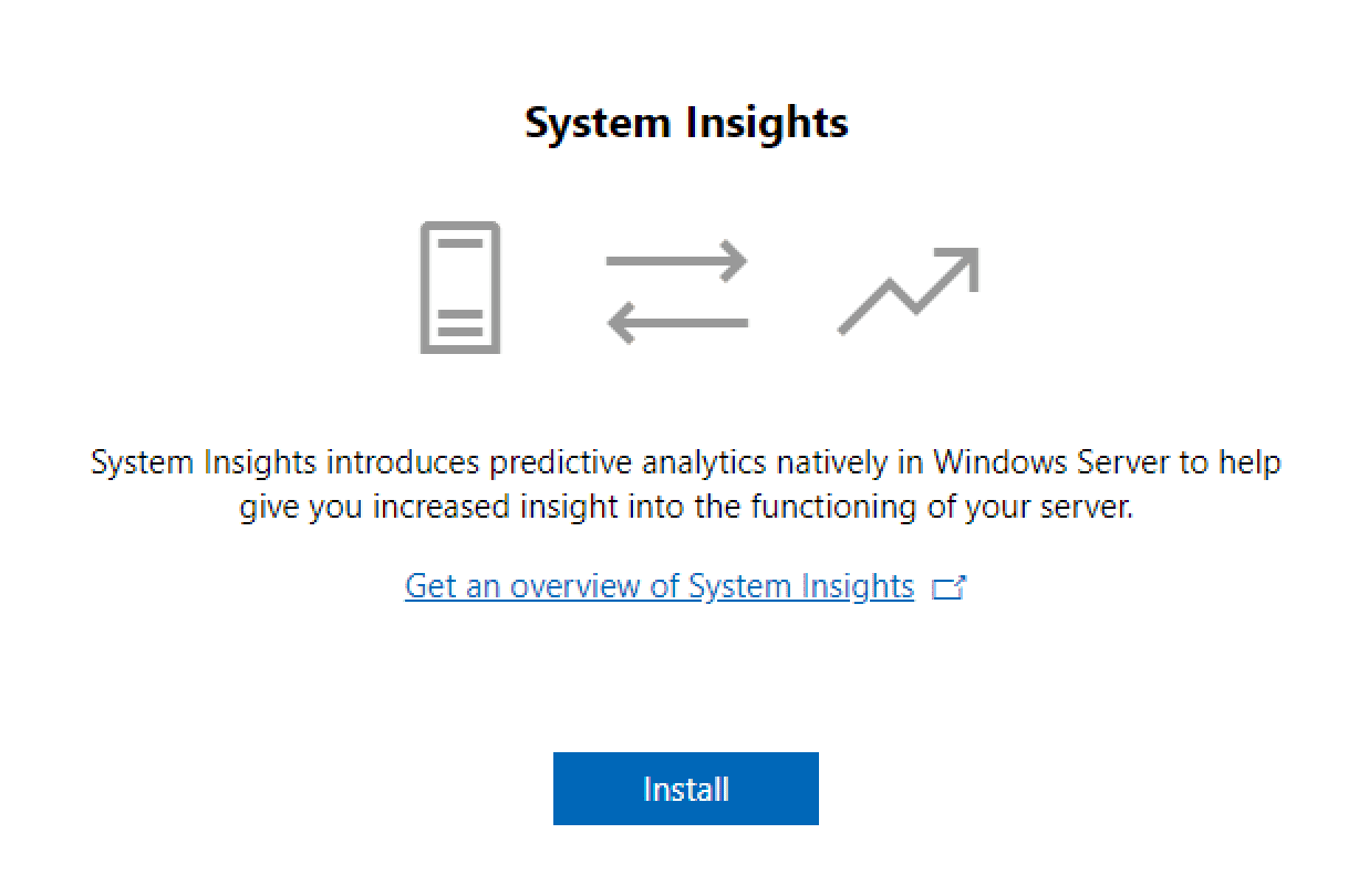 Configure-System-Insights-from-Windows-Admin-Center Managing Windows Server 2019 Core with Windows Admin Center
