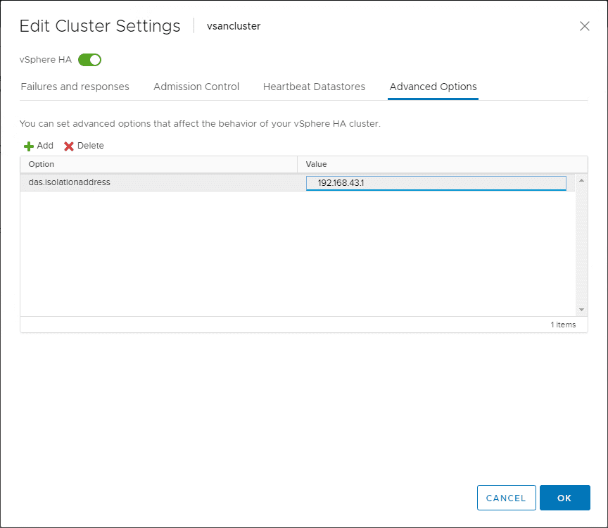 Configuring-the-das.isolationaddress-in-vSphere-HA Network Best Practices for vSphere HA High Availability Clusters