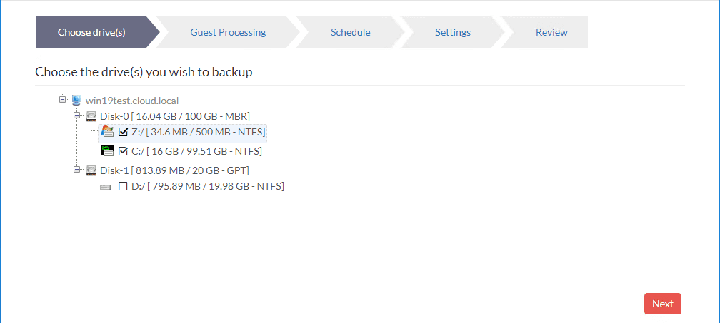 Drive-letters-assigned-ready-to-backup Physical Server Backup and P2V with Vembu