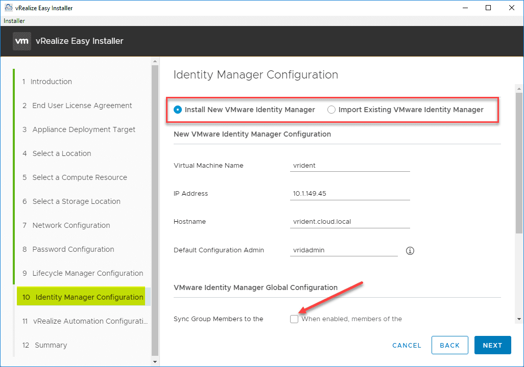 Identity-Manager-configuration vRealize Automation 8 Install and Configuration