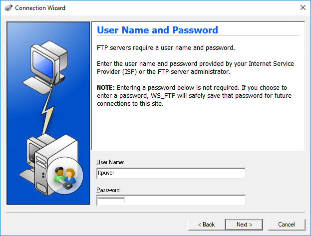 Input-your-username-and-password Setup an Automated FTP Solution to Move Files