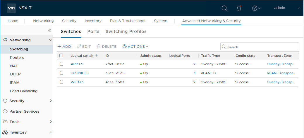 NSX-T-Logical-Switching VMware Network Virtualization Components and Products