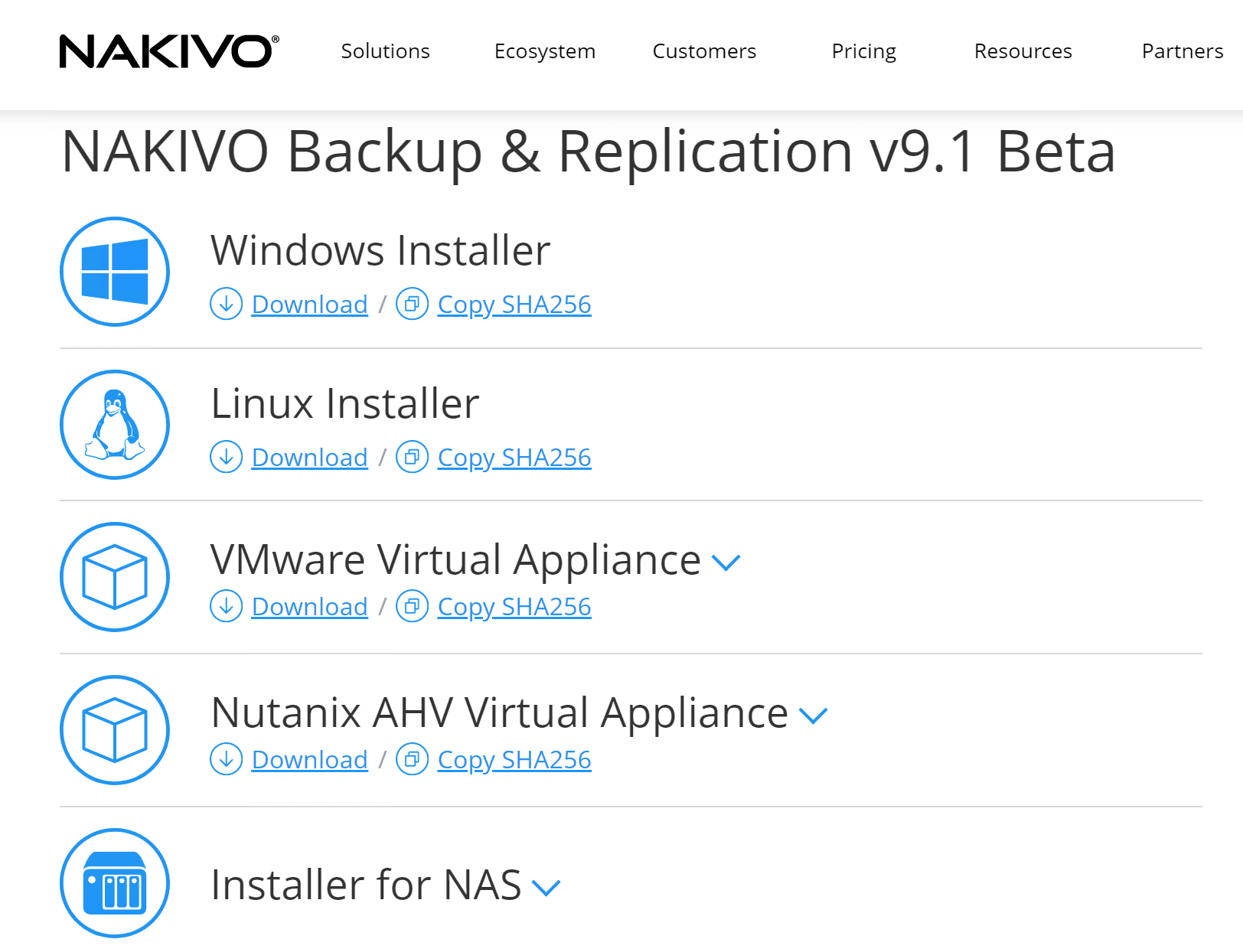 Options-for-installing-NAKIVO-Backup-Replication-v9.1-Beta NAKIVO Backup and Replication v9.1 Beta Released New Features