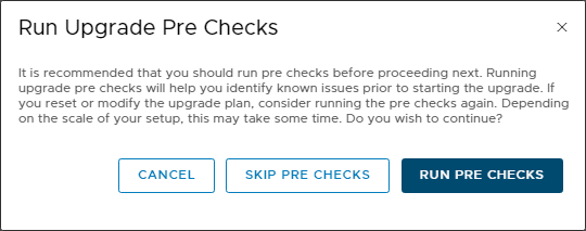 Run-upgrade-pre-checks-prompt-for-NSX-T Upgrading NSX-T 2.4 to 2.5 Step-by-Step