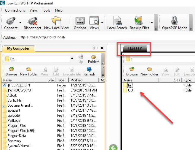 Testing-connection-to-the-FTP-site-and-seeing-a-successful-connection Setup an Automated FTP Solution to Move Files
