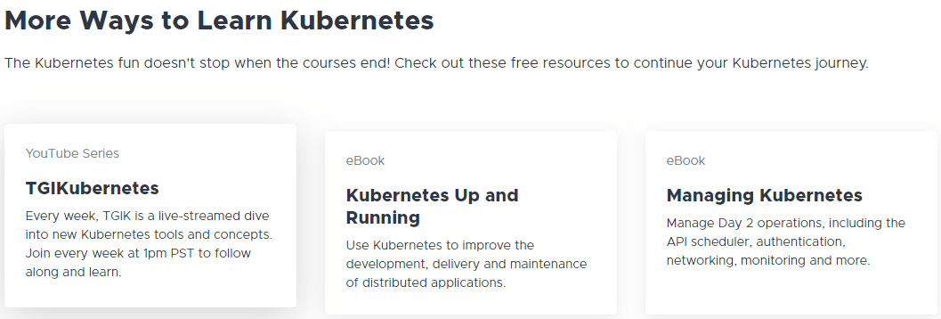 The-online-Kubernetes-Academy-has-other-knowledge-resource-links Learning Kubernetes with VMware Kubernetes Academy Online