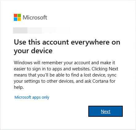 Use-this-account-everywhere-on-your-device Get Windows 10 November 2019 Build Early